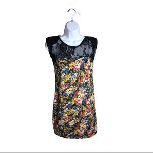 Costa Blanca Sleeveless Floral Lace Dress Size M